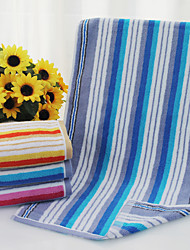 "1PC Full Cotton Thickening Hand Towel 13"" by 28"" Stripe Pattern Super Soft"