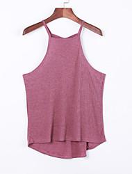 Women's Vintga Sexy Casual Cute ,Sleeveless Round Neck Vest(Cotton)