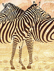 JAMMORY 3XL(14'7''*9'2'')3D Wallpaper For Home Contemporary Wall Covering Canvas Material Simple Zebra