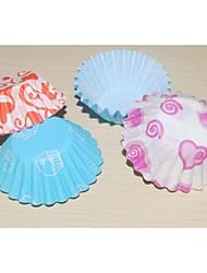 Aniversário Party Favors & Gifts-120Piece / Set Embalagens para Cupcake/Muffin Marcador 100% Celulose Virgem Tema Clássico Cilindro