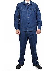 Long-Sleeved Cotton Denim Ccoal Mine Labor Insurance Anti-Static Clothing Repair Service Engineering Welders,Size:175