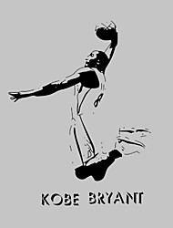 AWOO® New Design Kobe Bryant Wall Stickers Home Decor Vinyl Stickers For Kids Room Decoration