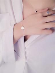 Bracelet Chaînes & Bracelets / Bracelet Hologramme Argent sterling Others Mode Quotidien / Décontracté Bijoux Cadeau Argent / Blanc,1pc
