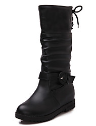Women's Boots Winter Snow Boots / Motorcycle Boots / Round Toe Dress Low Heel Lace-up Black / Brown / Yellow Others