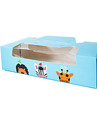Blue Color Packaging & Shipping X132 Animals Snack Packaging Box A Pack of Four