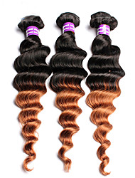 3 Pieces Loose Wave Human Hair Weaves Malaysian Texture Human Hair Weaves Loose Wave