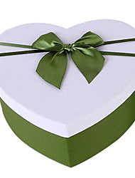 boîte à fleurs boîte de rangement deux choix de couleur carton kit d'emballage boîte exquise boîte cadeau arc-cadeau en forme de coeur