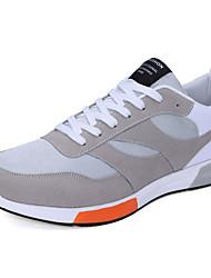 Da uomo-Sneakers-Casual-Comoda-Piatto-Tulle-Nero Blu Grigio