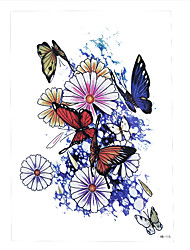 1pc Tattoo Women Flower Body Arm Back Art Tatoo Temporary Butterfly Flower Tattoo Sticker HB-115