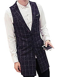 DMI™ Men's Lapel Plaids Casual Vest