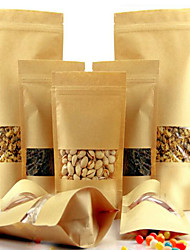Spot  Windows Standing Ziplock Snack Food Packaging Bags Tea Kraft Paper Bag Of Nuts A Customized Package Twenty