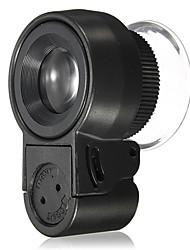Микроскоп Бижутерия / Ремонт часов Высокое разрешение / Держать в руке / LED 45X 30mm Стандартный Пластик