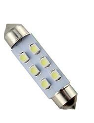 10pcs 41mm 6 СМД 3528 белый автомобиль гирлянда светодиодные лампы высокой яркости (DC12V)