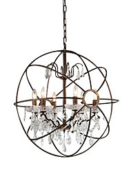 MAX:60W Chandelier ,  Vintage Painting Feature for Crystal Metal Bedroom / Dining Room / Entry / Hallway