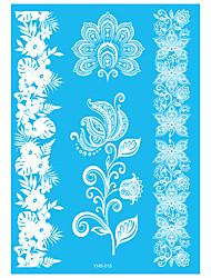 6 Tattoo Aufkleber Schmuck Serie Blumen Serie Non Toxic Muster Waterproof Henna Hochzeit SpitzeDamen Erwachsener Flash-TattooTemporary