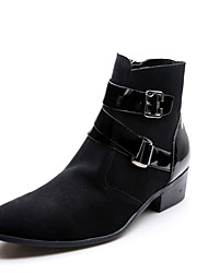 Men's Boots Fall / Winter Comfort Suede Casual Flat Heel Others Black Sneaker