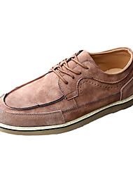Herren-Flache Schuhe-Lässig-PU-Flacher Absatz-Flache Schuhe-Gelb / Grau / Khaki