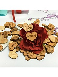 Unqiue Design Cute Mini Heart Shaped I DO ME TOO Wooden Table Scatters Wedding Gifts DIY Crafts Table Decorations