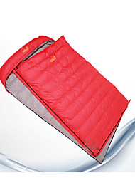 Sleeping Bag Mummy Bag Double -15 Duck Down 2000g 210X130 Hiking / Camping KEEP WARM / Compression / Cold Weather JW