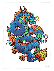 1pc Water Transfer Tattoo Women Men Body Art Temporary Colorful Imperial Dragon Tattoo Sticker HB-116