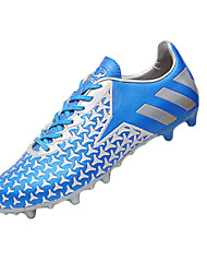 Men's Shoes PU Athletic Athletic Shoes Athletic Soccer Flat Heel Lace-up Blue / Green / Red / Gold / Royal Blue