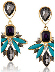 Black Color New Brand Design Women's Personality Crystal Rhinestone Dangle Earrings Vintage Jewelry Accessories