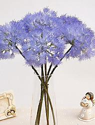Colourful Cute Silk Ball Chrysanthemum Flower Fake Artificial Dandelion Outdoor Garden Decoration Flower Plant