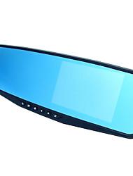 espelho gravador de condução azul espelho de grande ângulo de 170 graus monitoramento estacionamento 1080p de 4,3 polegadas