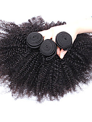 3pcs Lot  8-26 Inch  Unprocessed Mongolian Virgin Hair Natural Black Color Afro Kinky Curly Human Hair Weave