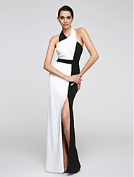 2017 TS Couture® Prom Formal Evening Dress Sheath / Column Halter Floor-length Chiffon with Split Front
