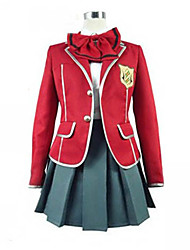 Inspired by Guilty Crown Inori Yuzuriha Anime Cosplay Costumes Cosplay Suits / School Uniforms Patchwork Red Long SleeveCoat / Blouse /