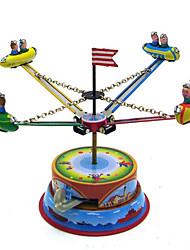Neuheit-Spielzeug / Puzzle Spielzeug / Aufziehbare Spielsachen Neuheit-Spielzeug / / Merry-go-round / Space Ship Metall Blau Für Kinder