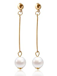 Alloy /Imitation Pearl Drop Earrings Wedding/Party/Daily/Casual 1 pair