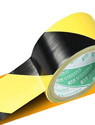 Pvc Floor Zebra Black And Yellow Warning Tape  Safety Warning Tape  Workshop Identifies Tape 4.8 * 0.8Cm 18M