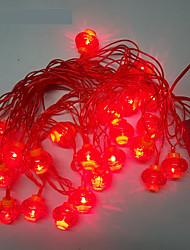 10m 24LED luci stringa lanterna rossa