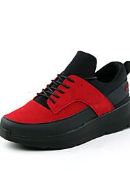 Da uomo-Sneakers-Casual-Comoda-Piatto-Scamosciato-Nero Bianco