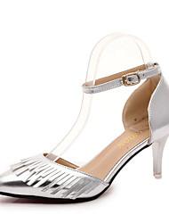 Women's Heels Spring / Fall Comfort PU Casual Low Heel Others Pink / Silver / Gray Walking