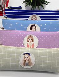 sud korean cas de crayon triangulaire papeterie sac en toile sac de rangement cosmétique pour femme