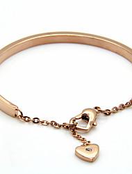 Bracelet Bracelets Rigides / Manchettes Bracelets Acier au titane Forme de Cercle / Amour Vintage / Ajustable / Durable / ModeMariage /