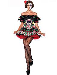 Costumes de Cosplay / Costume de Soirée Ange et Diable Fête / Célébration Déguisement Halloween Rouge / Blanc / Noir / Vert foncéLace /