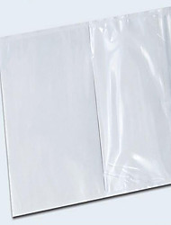 Pe Film Transparent Plastic Bag With Wooden White Back Release Paper 17 * 25 Self-Adhesive Courier  A Pack Of Ten