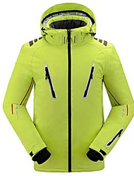 Ski Wear Ski/Snowboard Jackets Men's Winter Wear Polyester Solid Winter Clothing Thermal / Warm / Windproof / WearableCamping / Hiking /