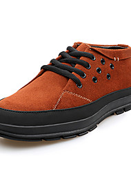British Men's Casual Suede Leather Shoes Fashion Office Shoes