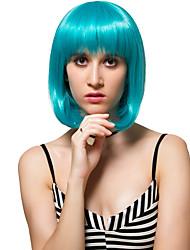 lago cabelo curto verde, perucas de moda.