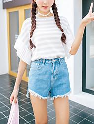 Damen Hose - Einfach Jeans / Kurze Hose Polyester Unelastisch