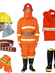 A Full Set of 97 Firefighting Clothing Fire Fighting Service Fire Retardant Protective Clothing Miniature