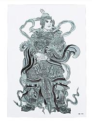 1pc Door-god Immortal Sky Picture Design Tattoo Temporary Tattoo for Women Men Body Back Leg Art Sticker HB-192