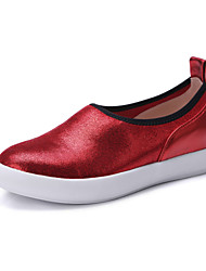 Women's Shoes Spring / Summer / Fall Comfort /  Loafers & Slip-Ons  / Dress / Casual Flat Heel Slip-onRed(Leather)