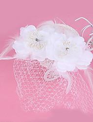 Femme Plume Tulle Tissu Casque-Mariage Occasion spéciale Coiffure 1 Pièce