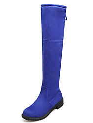 Women's Boots Fall / Winter Fashion Boots / Round Toe Fleece Office & Career / Dress / Casual Platform Lace-up